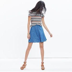 Madewell Denim Piazza Mini Skirt